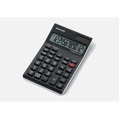 SHARP EL124TWH Semi-Desktop Calculator