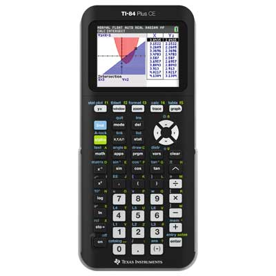 TI-84Plus CE Colour Graphics Calculator Main Image